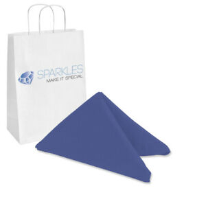 "50 pcs 20""x20"" inch Polyester Cloth Napkin - Navy Blue - Wedding Linen el"