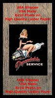 Dependable Service Pinup Girl 8X10 Photo Picture PIC Man Cave Decor SIGN BAR