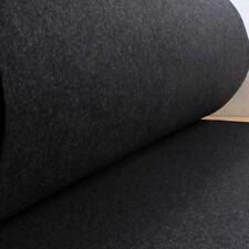 Stoff Polyester Filz dunkelgrau meliert stabil 4 mm dick Bastelfilz 100 cm breit