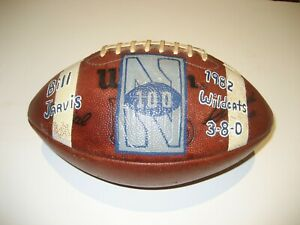 1982 Northwestern Wildcats GAME USED Wilson NFL Football University BIG TEN 10