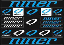 Niner Mountain  Bicycle Frame Decals Stickers Graphic Adhesive Set Vinyl Blue