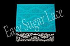 Silicone IRISH CROCHET CAKE SUGAR LACE Mat / Mold Edible Lace (whole mat)