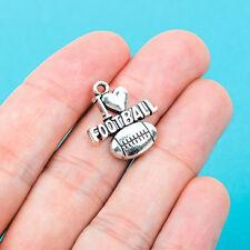 6 pcs I LOVE FOOTBALL Heart Tibet silver Charms Pendants DIY Jewellery Making