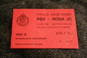ticket )) PSV V RODA JC - Finale KNVB-beker 1988 Holland Amstel cup f