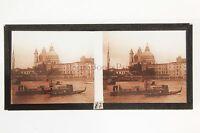 Venice Venezia Italia Foto Placca Da Lente Positive Stereo 1936