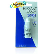 Elegant Touch Ultra Strong Protective Nail Glue Clear 3ml Quick Drying 4 Seconds