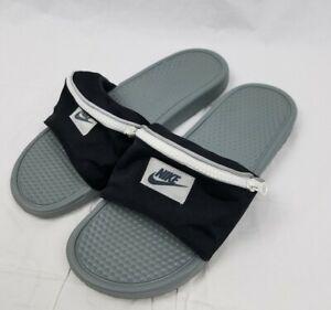 Nike Benassi JDI Fanny Pack Slides Black White Cool Grey AO1037-001 Mens 13