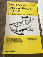 Build It Yourself Early American Cradle Better Homes & Garden Pattern Blueprints