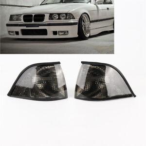 L+R New EURO Corner Smoke Light for BMW E36 3-SERIES 2DR Coupe/Convertible 92-98