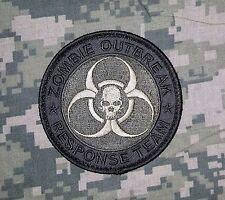 ZOMBIE HUNTER ACU OUTBREAK RESPONSE TEAM USA SWAT VELCRO® BRAND FASTENER PATCH