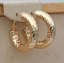 Stud Hoop Bohemia Clip-On Party Sw 18K Gold Filled Earrings Luxury Concave-conve