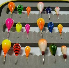 18 Piece UV GLOW Kenders Tungsten Jig Kit - Ice Fishing - Crappies - Bluegills