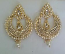 Indian Traditional Wedding Goldtone Women Earrings Jhumki Party Fashion Jewelry