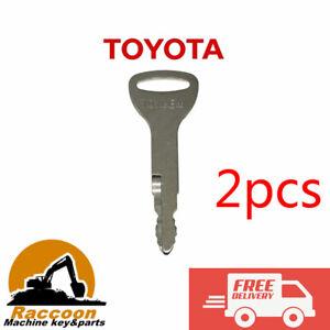 2pcs TOYOTA FORKLIFT KEY ref A62597 57591-23330-71 TOYNEW Traigo Tonero Onwards
