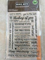 Hero Arts Card Sentiments Clear Acrylic Stamp Set CL342 NEW
