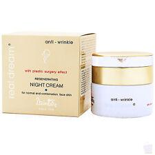 Antiarrugas Crema de Noche Para Rostro Piel Normal, ácido hialurónico, 96% Natural