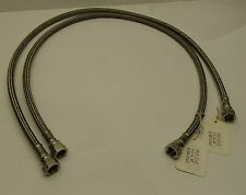 "2 AMAT 3400-01443 3/8"" Braided SS Hose Assy r 40"" End to end ORFS ends"