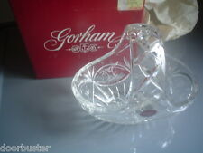 NIB NEW Gorham Full Lead Crystal Basket,bowl,candy dish VICTORIA Lady Anne W/BOX