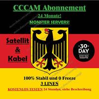 CCCAM Abonnement 24 Monate SAT und Kabel Dreambox vu + Price 34,95 €