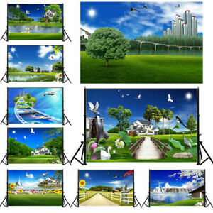 City Summer Scenery Wall Vinyl Photography Backdrop Photo Studio Background Prop