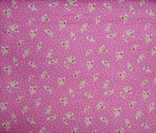 "Less than 1 Metre Half Meter (20"") Floral Craft Fabrics"