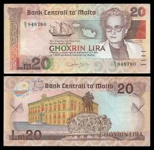 Malta 20 LIRA L.1967 (1986) P 40 OFFER !