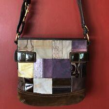 782c6def89 COACH Eva Purple Patchwork  3573 Holiday Edition Suede Leather CrossBody  Handbag