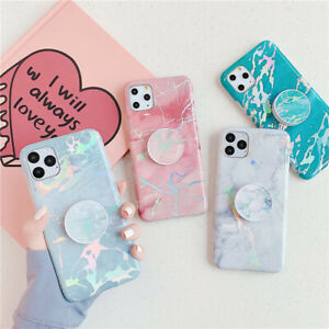 Marble Phone Case Cover For iPhone 12 Pro Max 11 XR 6 7 8 Plus With Stand Holder