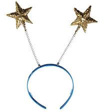 Gold Glitter Star Head Boppers Headband Christmas Nativity Party Fancy Dress