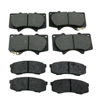 FOR TOYOTA LAND CRUISER 3.0 4.0 DIESEL FRONT AND REAR BRAKE PADS 2003 TO 2010