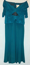 DAYMOR COUTURE WOMANS DARK TURQUOISE EVENING DRESS / GOWN SIZE 22 NEW