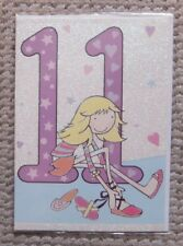 11 Birthday Girl's Shoes Greetings Card