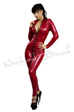 R0416 Latex FETISH Catsuit Size 14 UK * RED* Westward Bound SECONDS RRP £278.25
