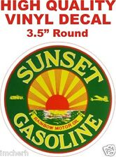 Vintage Style Sunset Gasoline Rainbow Motor Oil Gas Pump Decal - The Best
