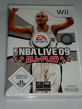 NBA Live 09: All-Play (Nintendo Wii, 2008, DVD-Box)