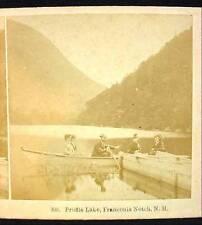 Antique Stereoview Card Kilburn PROFILE LAKE FRANCONIA NOTCH NH New Hampshire