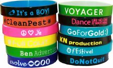 200 Color Text Custom Silicone Wristbands Fast Shipping your design on bands