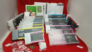 Epson Stylus Pro HUGE LOT Refill MANY CHIPS ink CARTRIDGES 4800 4880 4450 4400