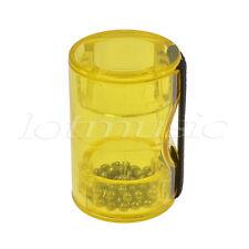 Rhythm Sand Shaker Music Finger Ring Finger Shot for Ukulele Guitar Banjo Yellow