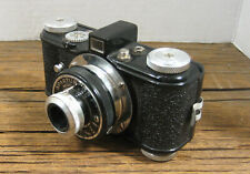 """VINTAGE Spartus """"35F"""" Model 400 35mm Camera in Brown Leather Case Made in U.S.A"""