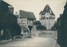 France, Nevers, les remparts et Porte du Croux Vintage albumen print,  Tir