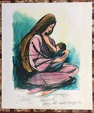 Ismael Rodriguez Maternal Serigraph 1999 Puerto Rico 36/500 Signed