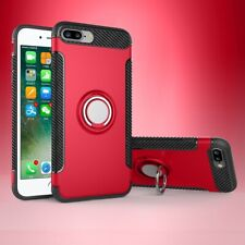 For iPhone 12 Pro Max 11 XS XR 8 Ring Finger with Magnetic Car Mount Case Cover