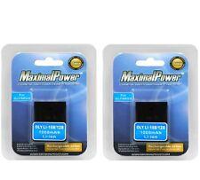 MaximalPower 2PK Battery For OLYMPUS LI-10B LI-12B FE-200 C-50 Zoom Stylus 1000