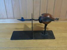 Metal and wood bird bookends vintage
