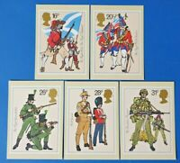 Set of 5 PHQ Stamp Postcards Set 68 British Army Uniforms 1983 CI9