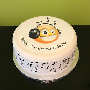 Headphones, Earphones 02 pre-cut Edible Icing Cake Topper or Ribbon