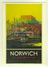 ad2706  -  LNER -  Norwich  -  modern poster advert postcard