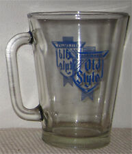Old Style Vintage Glass Beer Pitcher