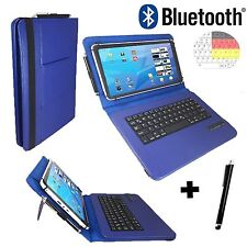 3in1 Bluetooth Table Folie Samsung Galaxy Tab 2 P5100 Tastatur Dunkel Blau 10.1""
